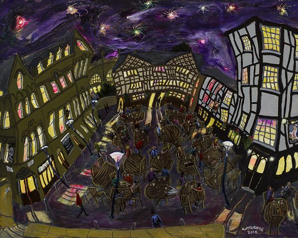 Shambles Square, Manchester, No. 5, at Night.  by Michael  Gutteridge