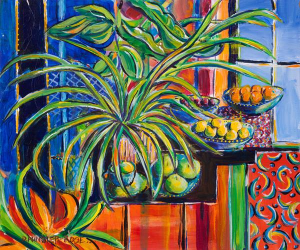 STILL LIFE AFTER MATISSE by Diana Aungier - Rose