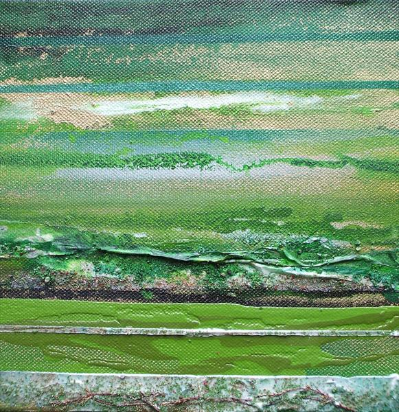 Coast Series Green and Gold 2 by Mike Bell