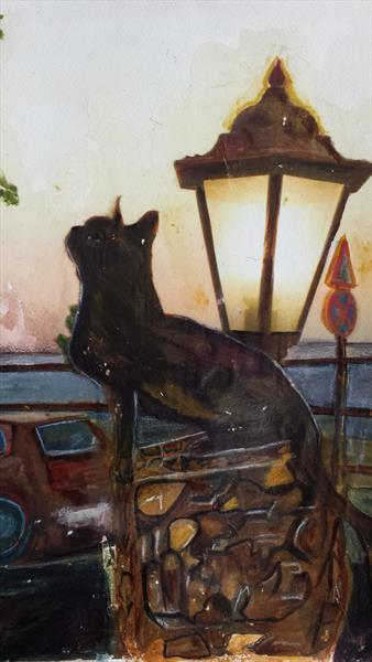 Cat by The Sea by Xenia Orphanides
