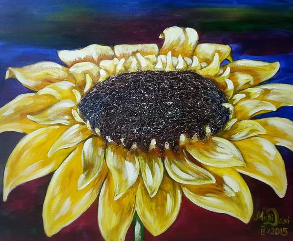 Acrylic_Sunflower