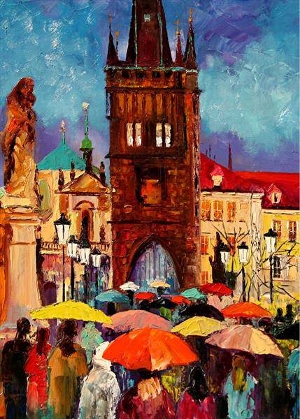 Charles Bridge, collectible ACEO print by Yary Dluhos