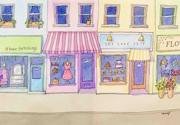 The Shops by Claire Keay