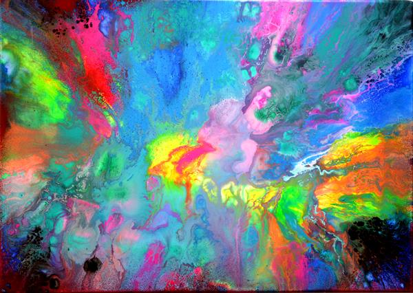 Perfect Harmony XV - Abstract Painting, Modern Fauve Neogestural - Ready to Hang by Soos Tiberiu - Anton