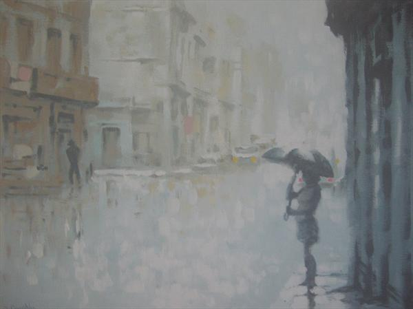Rainy Street by Steven Coughlin