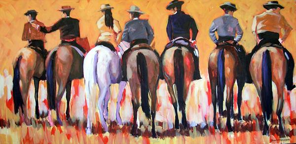Horsemen by Dawn Ogden-white