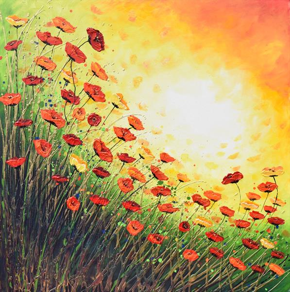 Popping with Red Poppies by Amanda Dagg