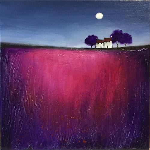 Moonlit houses  by JANE PALMER