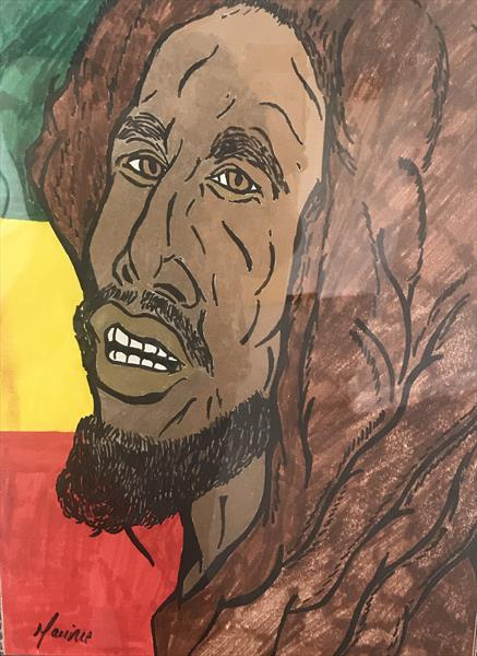 A Picture of Bob Marley by Maurice  Howard