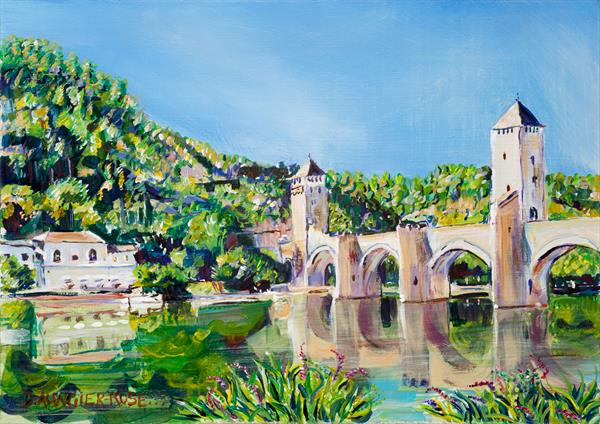 PONT VALENTRE REFLECTIONS by Diana Aungier - Rose