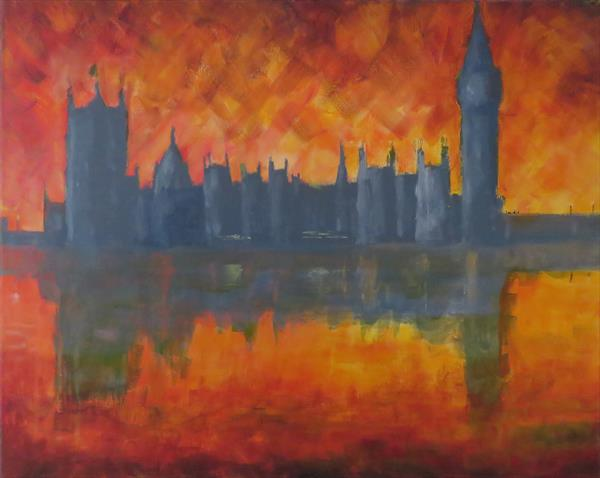 Parliament Sunset - London by Matthew Salik