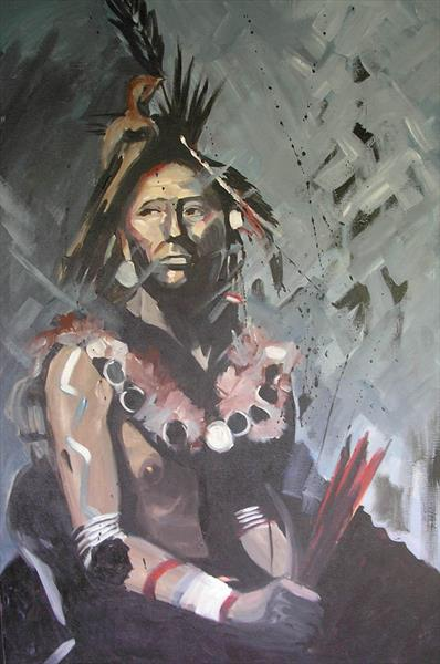 Sioux Indian by Dawn Ogden-white