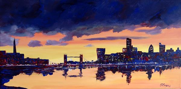 An evening on the Thames by Graham Evans