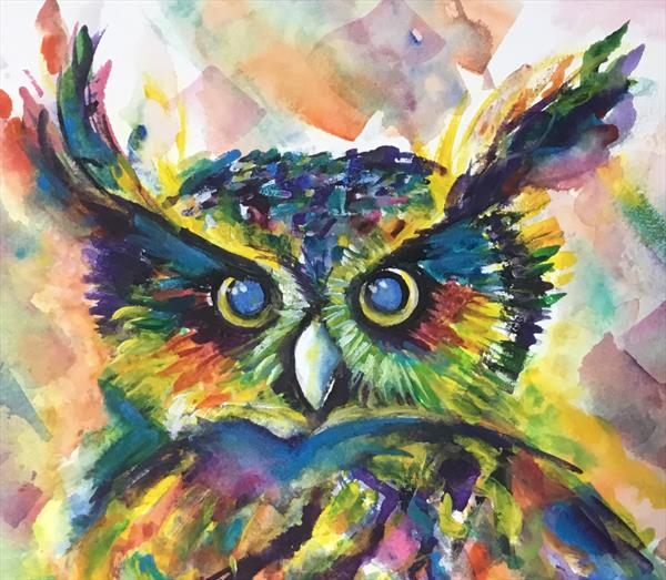 OLLIE OWL....IN WATERCOLOUR