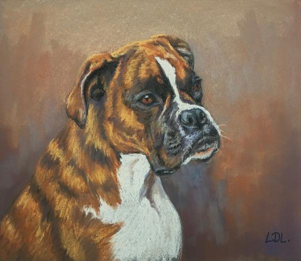 Boxer Dog by Lorna Lancaster