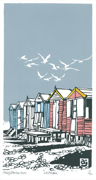 Beach Huts Whitstable by Andy Johnson
