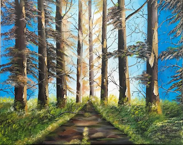 Forest landscape painting by  Rizna  Munsif