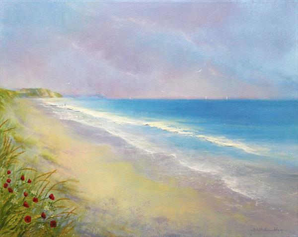 Poppies By The Sea by Stella Dunkley