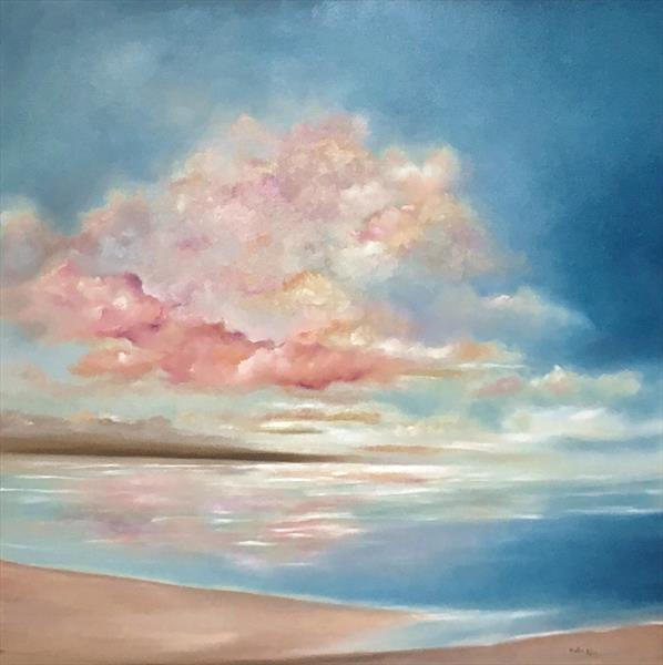 Sweet Sky, large painting on deep canvas by Nella Alao