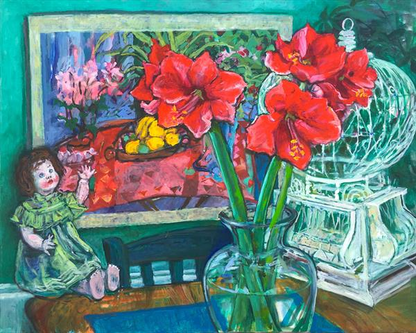 Sixties revisited still life by Patricia Clements