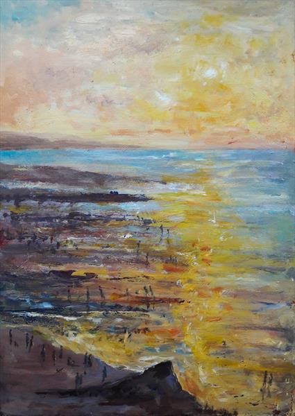 Evening on the Beach by Teresa Tanner