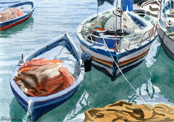 Tunisian Fishing Boats, Sousse by Andrew Dibben