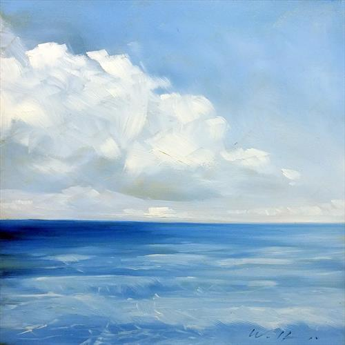 Sea with Clouds by Wolfango Chiappella