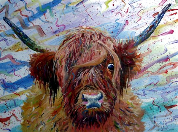 McTavish the Highland Cow Painting by Dod Dow