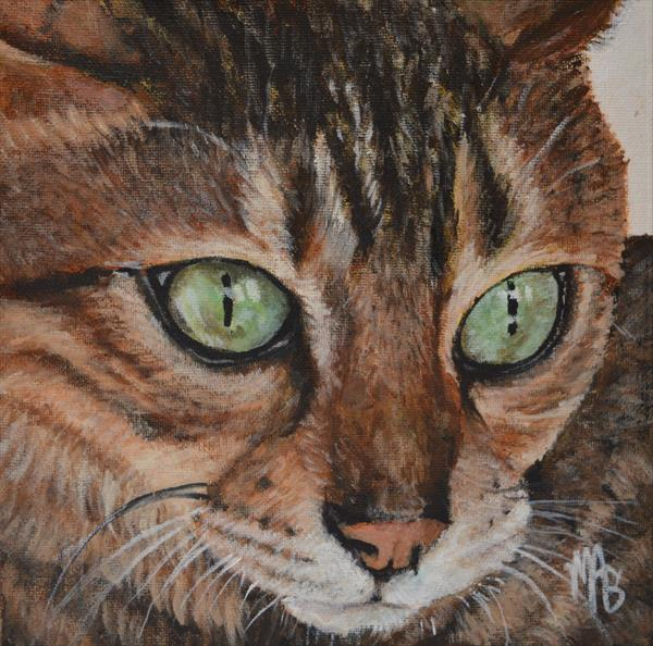 Cleopatra a cat portrait by Maria Arias