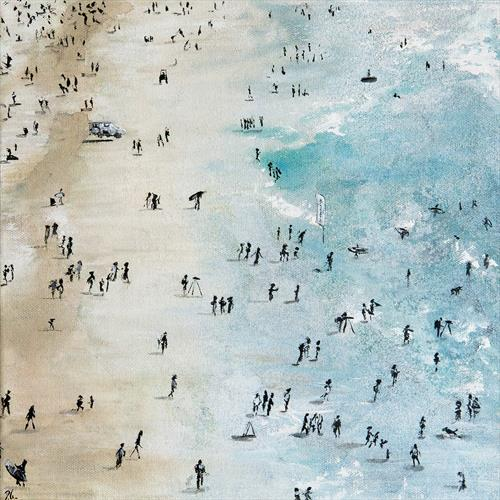 Watching Boardmasters, Fistral Beach by Diane Griffiths