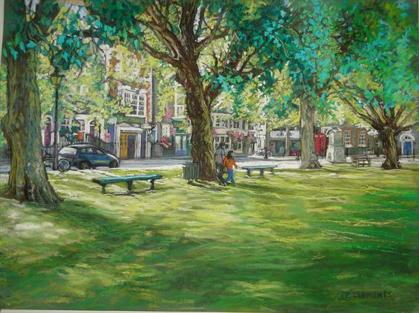 Richmond Green in Spring by Patricia Clements