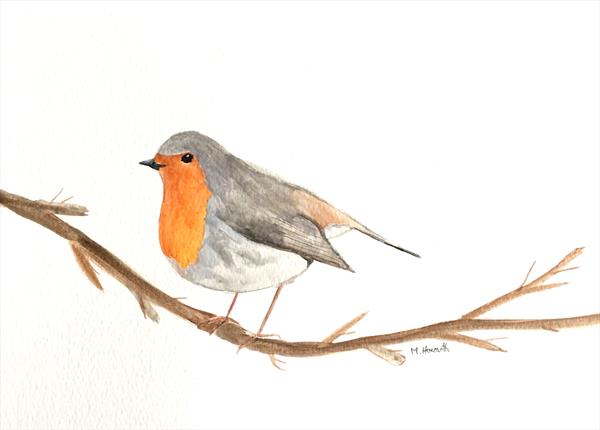 Robin nr 3 by Monika Howarth