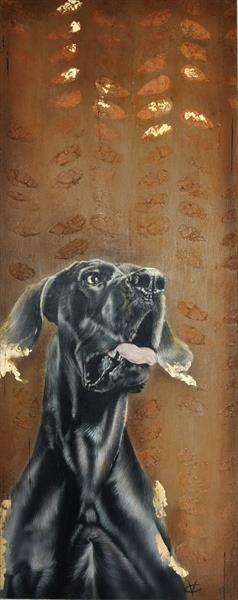Golden Dreams: Great Dane painting by Victoria Coleman
