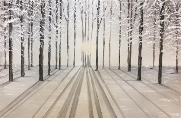 Tranquil Winter Trees by Tracy Jolly
