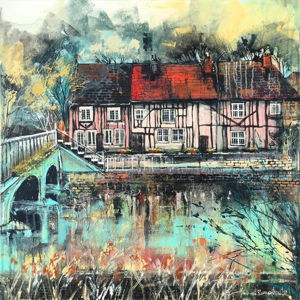 On The River Colne, Colchester by Irina Rumyantseva