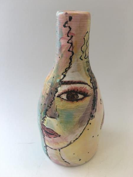 Colour Art Vase by Julie Anne