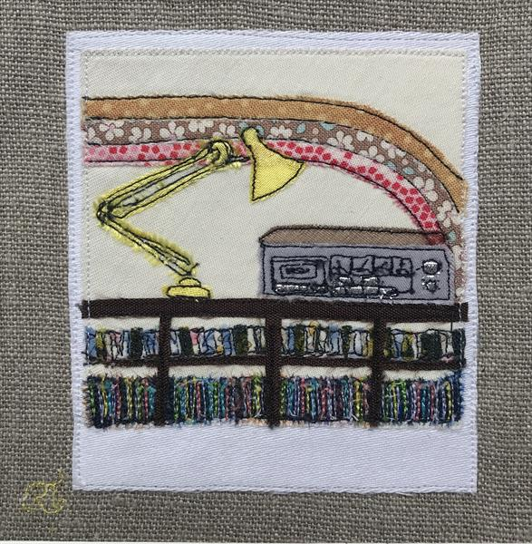 I love 80's - Textile Art by Rachel Tappin