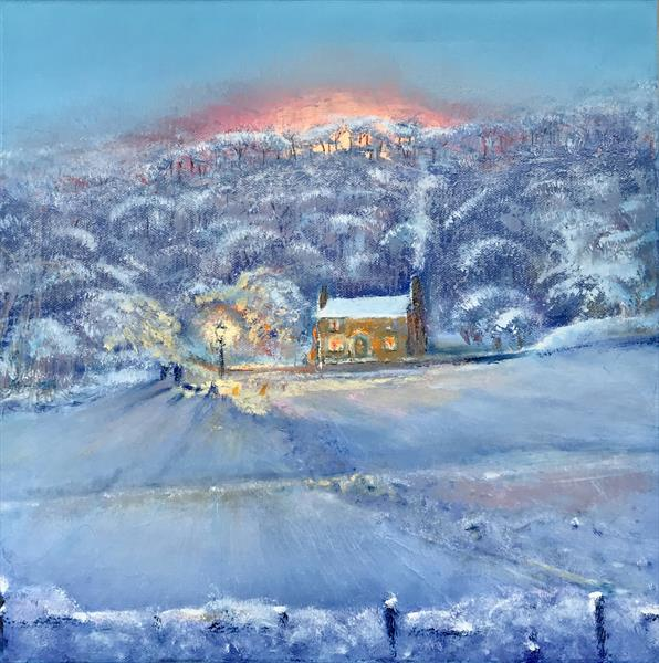 Sledging. End of day, now for crumpets & tea. by Victor White