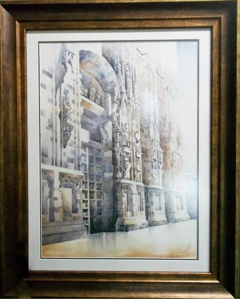 Watercolour ,,Palace facade in Venice