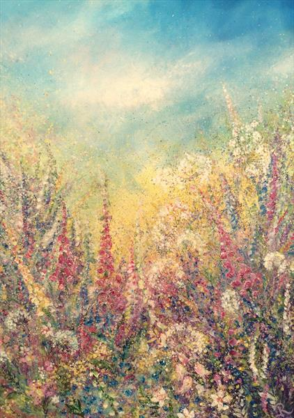 Summer Foxgloves by Janice  Rogers