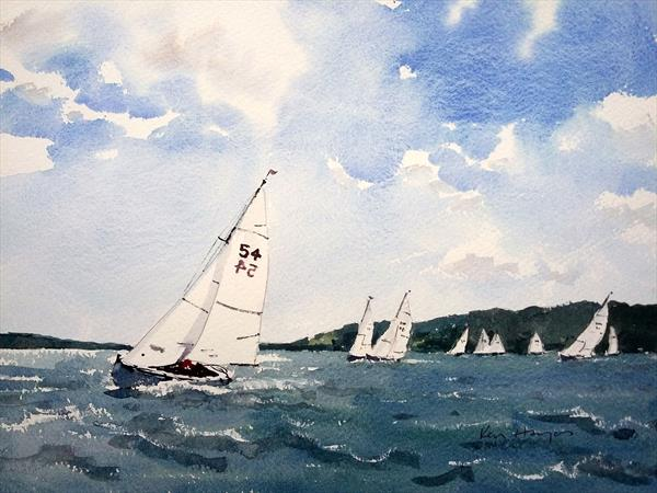 With Wind in Their Sails by Ken  Hayes