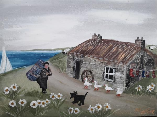 Away to sell her wares  by cheryl Morrice