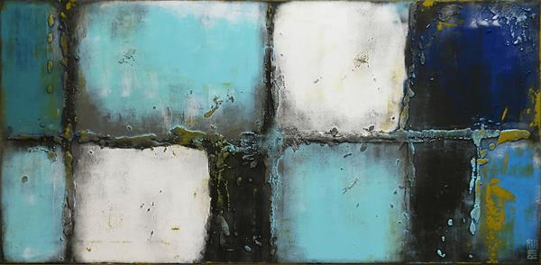 Abstract Painting - Lots Turquoise - C14 by Ronald Hunter