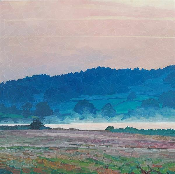 Esthwaite Mist (On show at The Art Gallery Tetbury) by Paul Burgess