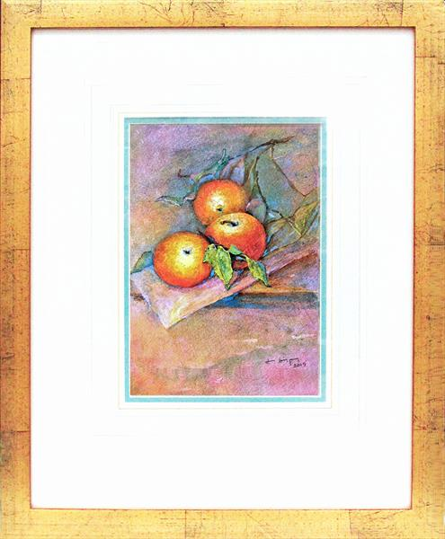Three Apples on a Branch by Jean Simpson