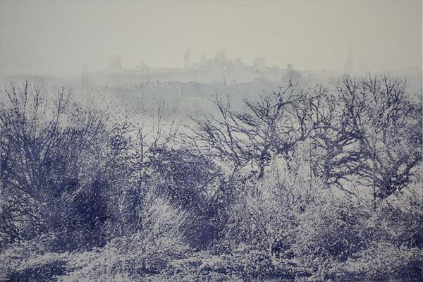 Ephemeral - London from Parliament Hill - large size - 60 x 86cm paper size by Marianne Nix Art