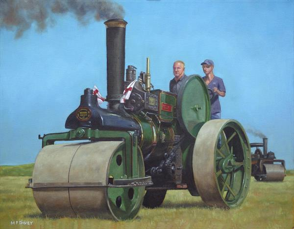 Steam Roller Traction Engine by Martin  Davey
