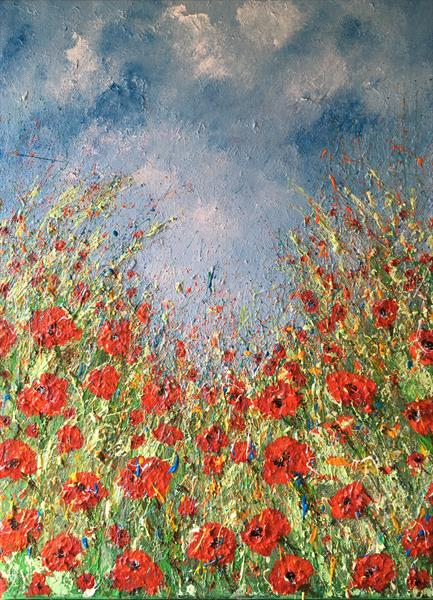 Poppies under Blue Skies