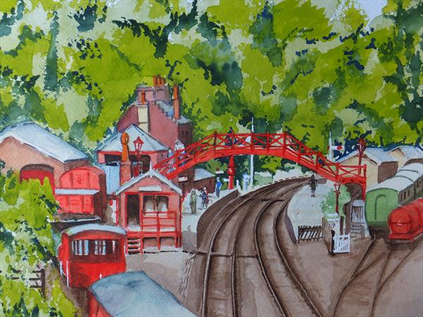 Goathland Railway Station (or is it Hogsmeade) by David Harmer