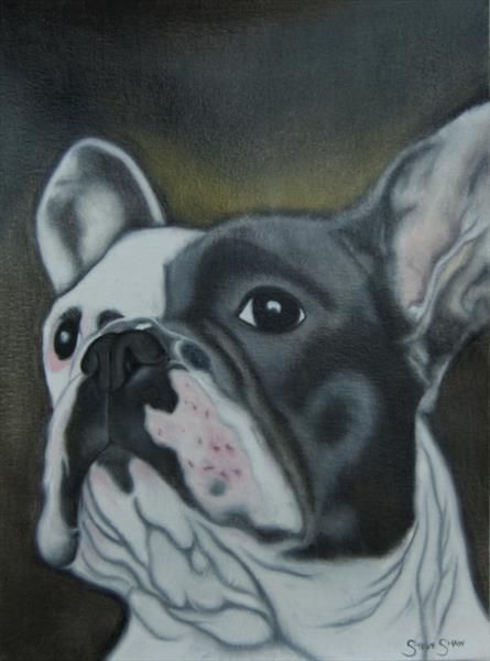 French Bulldog study 21cm x 28.6cm by Steven Shaw